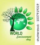 world environment day | Shutterstock .eps vector #1037919319