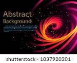 abstract background spiral spin ... | Shutterstock .eps vector #1037920201
