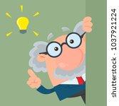 professor or scientist cartoon... | Shutterstock .eps vector #1037921224