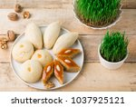 traditional azerbaijan pastries ... | Shutterstock . vector #1037925121