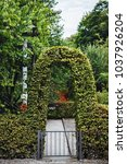 garden gateway arc perfectly...   Shutterstock . vector #1037926204