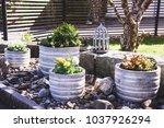 Stone Garden Arrangement With...
