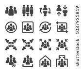 group meeting icon set | Shutterstock .eps vector #1037935819