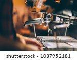 professional barman preparing... | Shutterstock . vector #1037952181