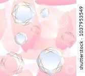 seamless pattern. brush strokes ... | Shutterstock .eps vector #1037953549