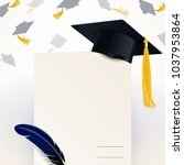 diploma of graduation and... | Shutterstock .eps vector #1037953864
