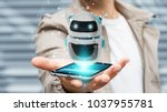 businessman on blurred... | Shutterstock . vector #1037955781