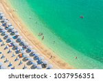 aerial view of people relaxing... | Shutterstock . vector #1037956351