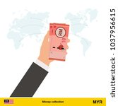 transfer money around the world.... | Shutterstock .eps vector #1037956615