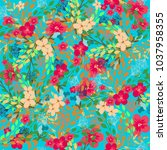 vintage floral pattern. cute... | Shutterstock . vector #1037958355