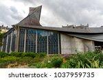 church of st joan of arc  rouen ... | Shutterstock . vector #1037959735
