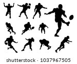 a set of detailed silhouette...   Shutterstock .eps vector #1037967505
