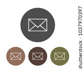 set  letter icon  email sign.... | Shutterstock .eps vector #1037970397