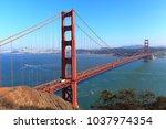 golden gate bridge  california | Shutterstock . vector #1037974354