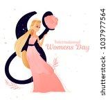 8 march international women's...   Shutterstock .eps vector #1037977564
