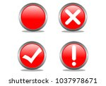 tick  check  exclamation point... | Shutterstock .eps vector #1037978671