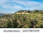 scenic view of ein karem   an...   Shutterstock . vector #1037987059