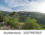 scenic view of ein karem   an...   Shutterstock . vector #1037987065