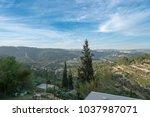 scenic view of ein karem   an...   Shutterstock . vector #1037987071
