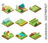 natural farming isometric 3d... | Shutterstock .eps vector #1037989927