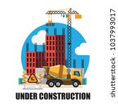 building under construction... | Shutterstock .eps vector #1037993017