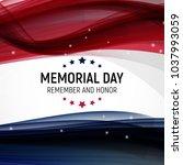 memorial day background. ... | Shutterstock . vector #1037993059