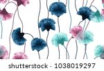 seamless pattern  blue  pink... | Shutterstock .eps vector #1038019297