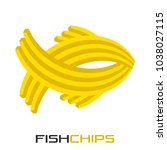 abstract fish chips logo | Shutterstock .eps vector #1038027115