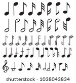 music note background with... | Shutterstock .eps vector #1038043834