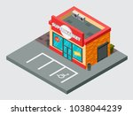 supermarket isometric vector... | Shutterstock .eps vector #1038044239