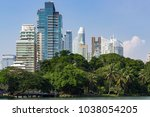 business district cityscape... | Shutterstock . vector #1038054205
