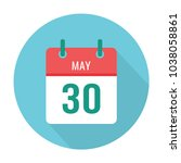 may 30 icon calendar flat. date.   Shutterstock .eps vector #1038058861