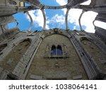 carmo convent in lisbon ... | Shutterstock . vector #1038064141