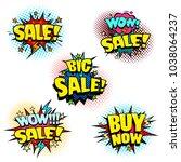 sale stickers set  promotion... | Shutterstock .eps vector #1038064237