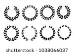 vector collection of laurels ... | Shutterstock .eps vector #1038066037