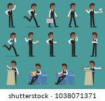 set. businessman in different...   Shutterstock .eps vector #1038071371