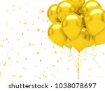 yellow baloons on the top right ... | Shutterstock . vector #1038078697