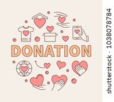 donation modern colored round... | Shutterstock .eps vector #1038078784