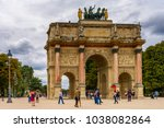paris  france   july 29  2017 ... | Shutterstock . vector #1038082864