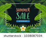 summer sale background banner... | Shutterstock .eps vector #1038087034