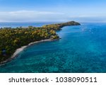 aerial view of tropical island... | Shutterstock . vector #1038090511