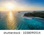 aerial view of tropical island...   Shutterstock . vector #1038090514