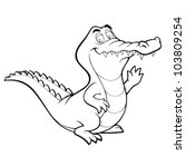 Vector Crocodile Cartoon...
