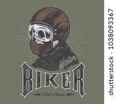 skull bike vector | Shutterstock .eps vector #1038093367