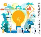 design studio  designing ... | Shutterstock .eps vector #1038094321