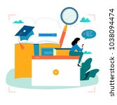 education  video tutorial ... | Shutterstock .eps vector #1038094474