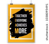 team typography poster. vector... | Shutterstock .eps vector #1038095491