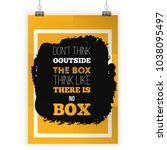 think outside the box. vector... | Shutterstock .eps vector #1038095497