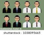 businessman avatar with...   Shutterstock .eps vector #1038095665