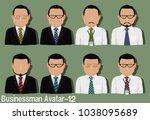 businessman avatar with...   Shutterstock .eps vector #1038095689